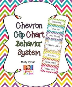 Chevron Clip Chart Behavior System - includes parent letters, weekly progress reports & think sheet!