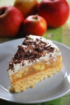 Apfel-Torte mit Quark-Creme & Schokolade (nussfrei)