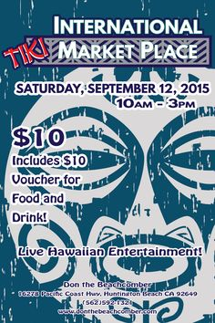 9/12/15  International Tiki Market Place at Don the Beachcomber