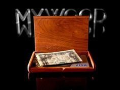 Personalized Wooden Wallet Wooden Card Holder by MyWoodWallets