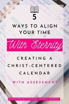 Does your calendar overwhelm you? Has busyness replaced fruitfulness? What does God say about how we spend our time? Learn how to align your time with eternity and create a Christ-centered calendar with these tips and assessment. Christian Women, Christian Faith, Eternal Return, Effective Prayer, Free Bible Study, Christian Resources, Sisters In Christ, Christian Devotions, Women Of Faith