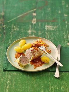 Kohlrouladen mit Hack und Kümmelkartoffeln