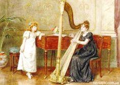 The Duet - George Goodwin Kilburne - The Athenaeum Victorian Paintings, Victorian Art, The Sorcerer's Stone, Soul Art, Art Themes, Her Music, Classic Beauty, Female Art, Art Museum