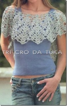 TRI CRO DA TUKA: gola crochê. #inspiration_crochet_diy GB ...