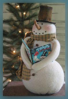 """Primitive Snowman PATTERN """"Jack""""                                                                                                                                                                                 More"""