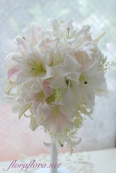 Follow us @ SIGNATUREBRIDE on Twitter and on Facebook at SIGNATURE BRIDE MAGAZINE White Wedding Bouquets, Floral Wedding, Wedding Flowers, Beautiful Bouquet Of Flowers, Love Flowers, Amnesia Rose, Bouqets, Floral Arrangements, Special Occasion