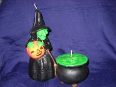 A Witch and Cauldron