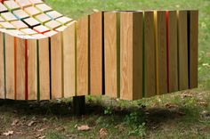 sculptural bench. #coloreveryday