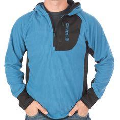 Men's Cinch Blue and Black Tech Fleece Hoodie