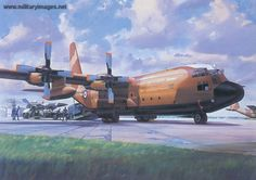 Lockheed Hercules CMk1 - Airfix box artwork by Roy Cross