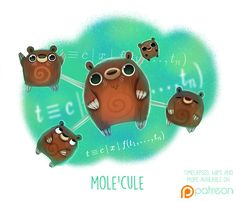 Daily+Paint+1505.+Mole'cule+by+Cryptid-Creations.deviantart.com+on+@DeviantArt