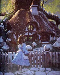 Alice - Greg Hildebrandt - white rabbits house