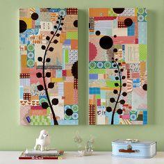 Painel decorativo, invente o seu com o que tem em casa