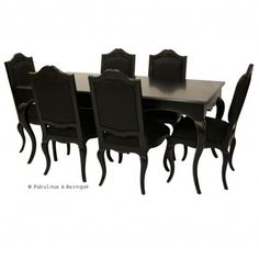Moulin Rouge 6 Chair Dining Set Black