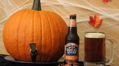 Turn a Pumpkin into a Keg. Use it for a kids party with non alchoholic beverage