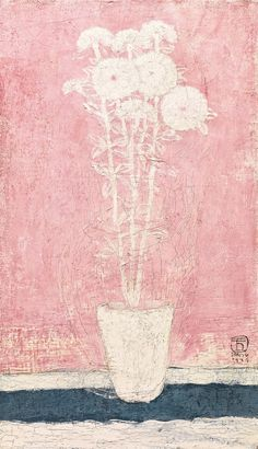 Sanyu (1901–1966), Potted Flowers, 1929, oil on canvas, 46.3x27 cm