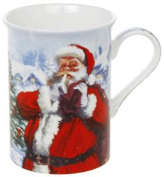 "Macneil Santa Box Mug This delightful Santa Mug is from the ""MacNeil"" range of Christmas Mugs. It is made from ""Fine Bone China"" and has a picture of Santa doing a ""SHH"" gesture. The mug comes in a presentation box. It is safe both for the dishwasher and the microwave In Stock Price: £4.49"