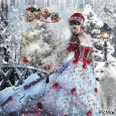 The musician of Christmas Merry Christmas Gif, Christmas Scenery, Cozy Christmas, Father Christmas, Christmas Time, Holiday, Music Theory Games, Winter Pictures, Gifs