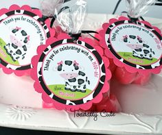 NEW  Daisy the Cow Favor Tags personalized by ToadallyCuteParties, $12.00