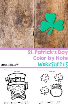 These worksheets are a lifesaver! I make a class set of a few different sheets and have them on hand for when I have 5-10 minutes left at the end of my music lessons. I've also used them in my sub tub. These St. Patrick's Day printables are an easy time f