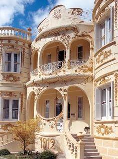 Figueras-Castropol, Villa Villa im Indiano-Stil von zurückgekehrten Amerika Emigranten (Figueras del Mar, Asturien, ESP) Schütze / Rodemann