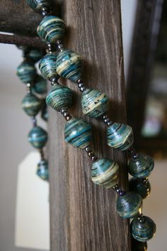 paper bead jewelry | Paper bead necklace - Large — I Ran The Wrong Way Online Shoppe