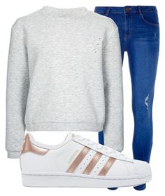 """""""Lazy Days 💭"""" by cerysrt ❤ liked on Polyvore featuring Dorothy Perkins, Finders Keepers and adidas Originals"""