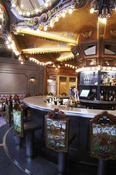 the carousel bar at the monteleone hotel...  it really turns, which makes finding your seat again a hilarious adventure when you come back from the ladies' room!