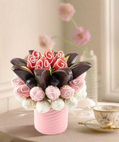 Eye Heart çikolatalı meyve çiçeği / Fruitflowers