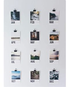 Aleigha Wyman — alittlediy:   DIY Polaroid calendar