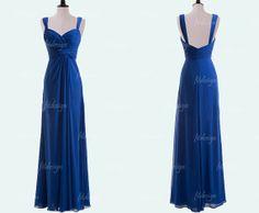royal blue bridesmaid dress long bridesmaid dress by fitdesign, $119.00