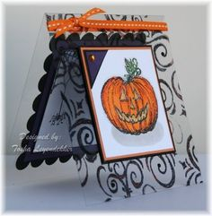 Very detailed card made on acetate has a super inside as well - cute pumpkin and spider for the price of one.
