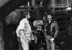 Indiana Jones and the Temple of Doom - Behind the scenes photo of Steven Spielberg & George Lucas. The image measures 640 * 444 pixels and was added on 1 January Scene Photo, Picture Photo, Happy Birthday George, 7 Arts, Dylan Songs, George Lucas, Steven Spielberg, Harrison Ford, Indiana Jones