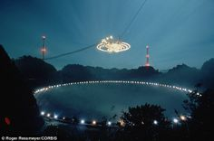 On 16 November 1974 the Arecibo radio telescope in Puerto Rico (pictured) was used to send out a signal called the Arecibo message, a 'calling card' from Earth to potential alien races. Puerto Rico Island, Puerto Rico Food, Arecibo Puerto Rico, Beautiful Islands, Beautiful Places, Puerto Rico Pictures, Radio Astronomy, Puerto Rico History, Puerto Rican Culture
