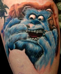 Monsters Inc ink. by Frank La Natra Nerdy Tattoos, Cartoon Tattoos, Great Tattoos, Disney Tattoos, Beautiful Tattoos, Awesome Tattoos, Beautiful Body, Time Tattoos, Tattoo You