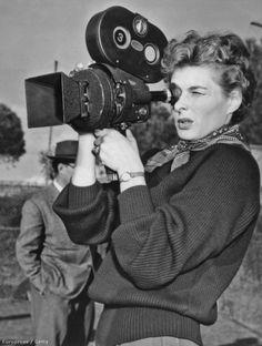 Ingrid Bergman on the set of Siamo Donne directed by Roberto Rossellini, 1953 by Robert Capa. Block Magazine