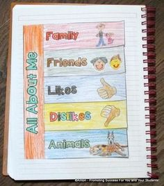 All About Me Interactive Notebook Back to School Activity: In this beginning of the year foldable craftivity, students will write about their interests, likes and dislikes. It is a fun activity to get to know your students. Please see the preview. There is also a template to create your own activity.