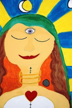 Awakening the Goddess in me - painting after meditation