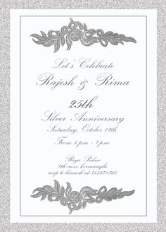 25th wedding invitation with words