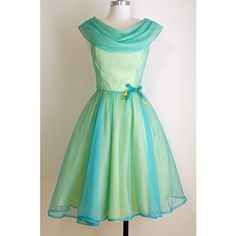 An Iridescent Teal and Sea Green Party Dress -- I adore these draped necklines! Vintage Party Dresses, Prom Party Dresses, Evening Dresses, Vintage Outfits, Dress Vintage, Vintage Clothing, Bridesmaid Dresses, 1950s Fashion, Vintage Fashion