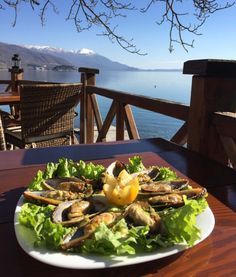 Delicious Mussels in Ohrid, Macedonia