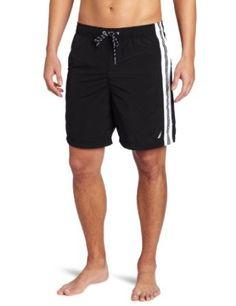 Nautica Men's Big-Tall 19 Inch Full Elastic Contrast Stripe Swim Short #fathers Day Gift (Amazon) $37.87
