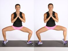 Pin for Later: Create Strong and Shapely Calves With These Do-Anywhere Exercises Wide Squat With Calf Raise