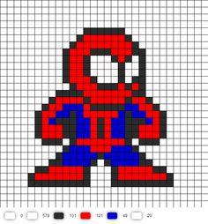 Spider-Man Perler Bead Pattern