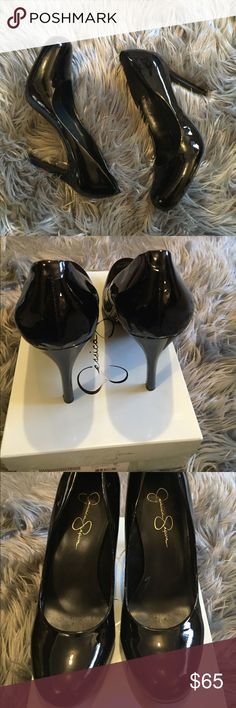"""Patten Leather Heels 3.5"""" heels. Worn twice. Bought from Nordstrom. I do not trade. I'm normally a size 10 and these fit perfect. Jessica Simpson Shoes Heels"""