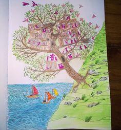 """""""#kolorowanie #kolorowanka #anitagraboś #wyspy #coloring #coloringbookforadults #coloringbook #adultcoloring #adultcoloringbook"""""""