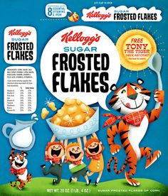 "Old School ""Frosted Flakes"" by Elaine Hsu, via Behance"