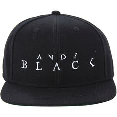 Andy Black Logo Snapback Hat Hot Topic ( 20) ❤ liked on Polyvore featuring  accessories · Embroidered CapsHat ... 8c1126bce2dc