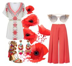"""Untitled #161"" by hibasheikh on Polyvore featuring Marella, Oasis, Schutz and Ranjana Khan"