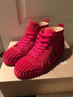 6c12f5f5d556 Mens Christian Louboutin Coachelito Spikes Flat Red Size 42   9 Red Bottom  Shoes  fashion  clothing  shoes  accessories  mensshoes  casualshoes (ebay  link)